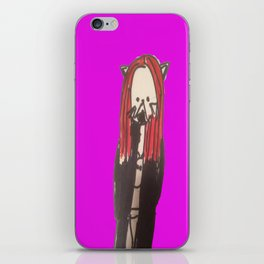 Pastel Goth kitty design iPhone Skin