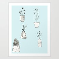 plants Art Prints featuring Plants by nani-nana