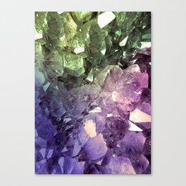 Two Tone Crystal Geode Canvas Print