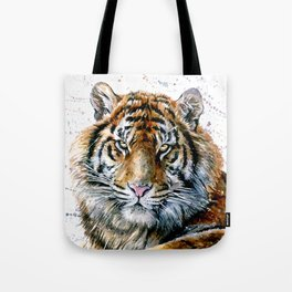 Tiger watercolor Tote Bag