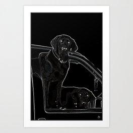 Outline of Labrador Art Print