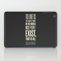 oscar wilde iPad Cases featuring Lab No. 4 - Oscar Wilde Motivational inspirational typography print Poster by Lab No. 4