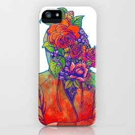 FLOWERS HEAD iPhone Case