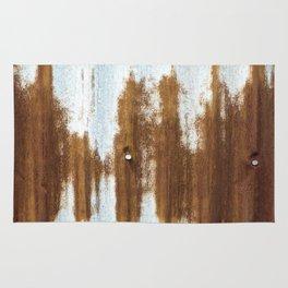 Rusted Corrugated Tin rustic decor Rug