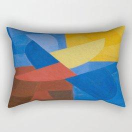 Otto Freundlich Komposition (Ca. 1932) Kunstmuseum Basel Colorful Geometric Art Rectangular Pillow