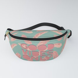 GOOD VIBES ONLY #society6 #decor #buyart Fanny Pack
