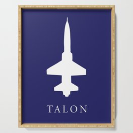 Blue T-38 Talon Serving Tray