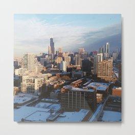 CHICAGO WINTER Metal Print