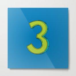 Number 3 - 36 Days of Type  Metal Print