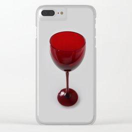 Red Glass Clear iPhone Case