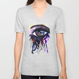 Rainbow eye splashing Unisex V-Neck