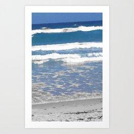 faded beach Art Print