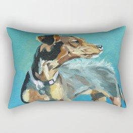 Mabel Jane the Marvelous Mystery Mutt Rectangular Pillow