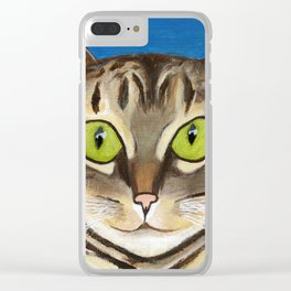 Tabby Cuteness Clear iPhone Case