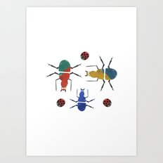 playful insects Art Print