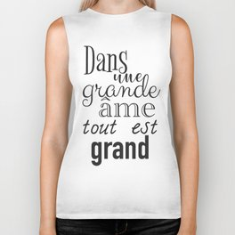 French success quote print Biker Tank