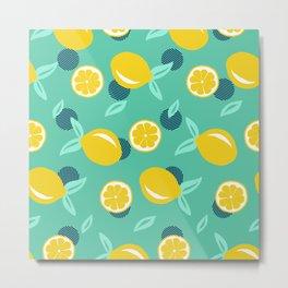 Lemon dots Metal Print