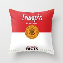 Trump's Alternative Facts Soup Throw Pillow