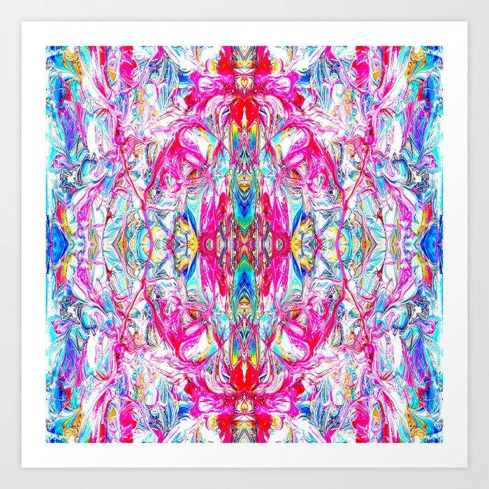 Sophisticated Psychedelic Boho II Art Print