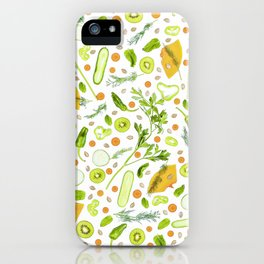 Fruits and vegetables pattern (20) iPhone Case