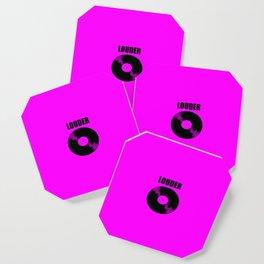 louder music logo Coaster