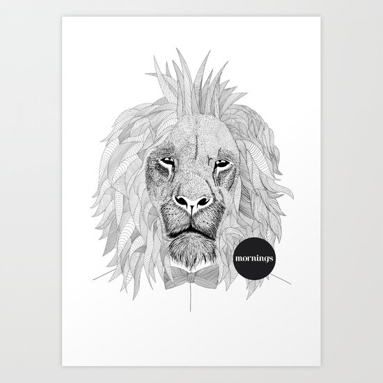 Asleep lion Art Print