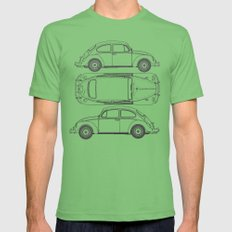 VW Beetle Blueprint Mens Fitted Tee Grass 2X-LARGE
