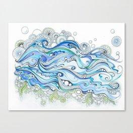 Ocean Seaweed Canvas Print