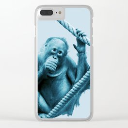 Monochrome - Hanging around Clear iPhone Case