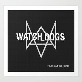 Watchdogs logo Art Print