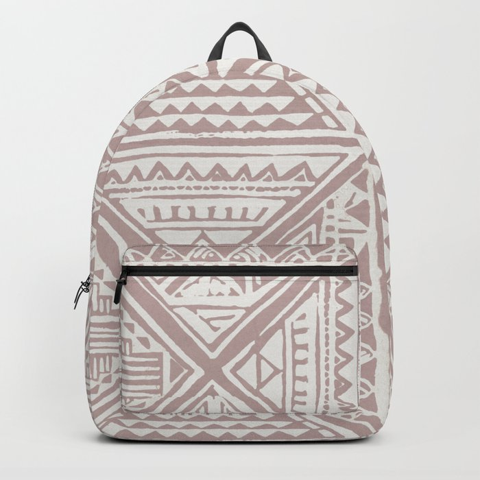 Simply Tribal Tile in Red Earth on Lunar Gray Backpack