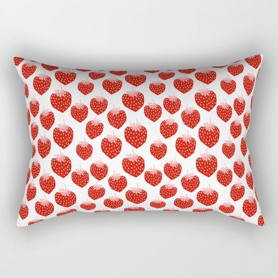 Strawberries - trendy fresh tropical fruit vegan vegetarian juice juicing cleanse Rectangular Pillow
