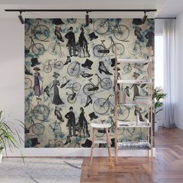 Victorian Bicycles and Fashion Wall Mural