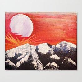 Moon Mountain Canvas Print