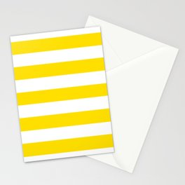 Philippine golden yellow - solid color - white stripes pattern Stationery Cards