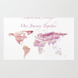 Cotton Candy Sky World Map - Mark and Jennifer Rug