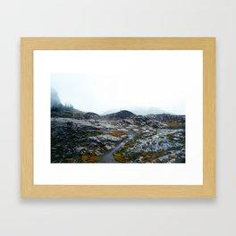 Rainy Mount Baker Framed Art Print