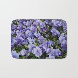 Pansy flower Bath Mat