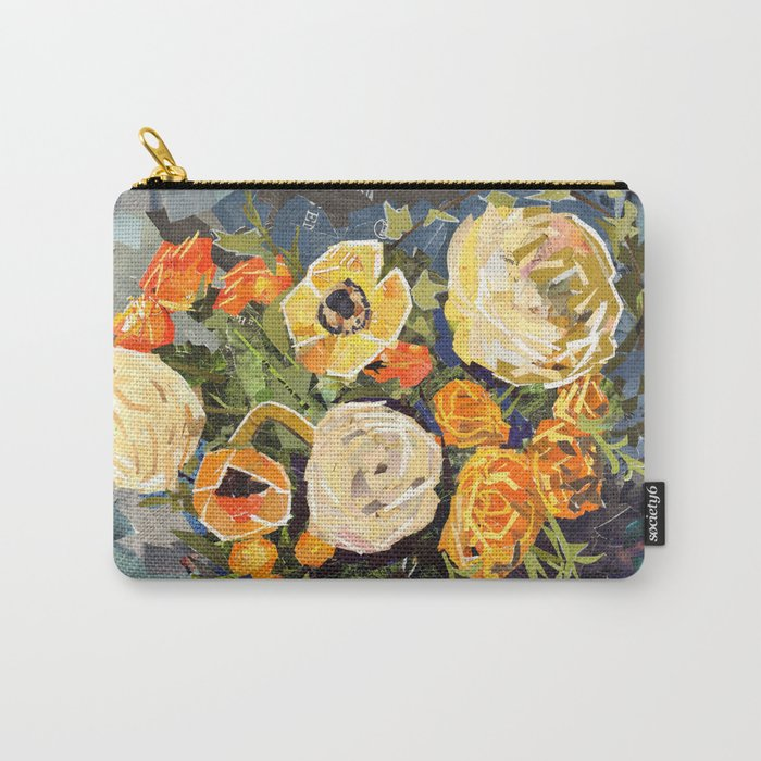Tin Can Studio Floral #3 Carry-All Pouch