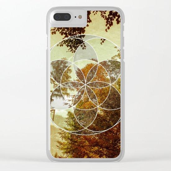 Autumn Meditation Clear iPhone Case
