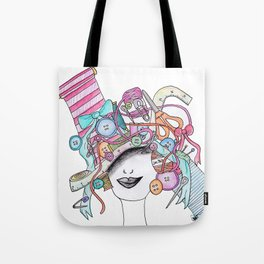 365 cabelos - sewing Tote Bag
