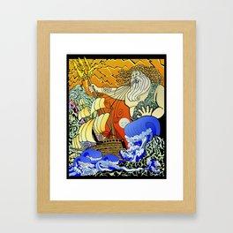 Tales of the Trident:Poseidon Framed Art Print