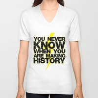 history V-neck T-shirts featuring HISTORY by Silvio Ledbetter