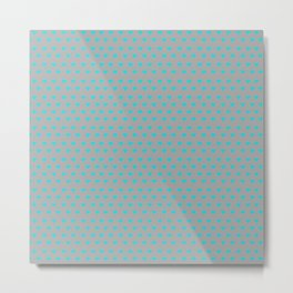 DAINTY Blue Hearts Metal Print