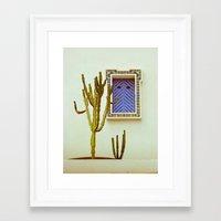 cactus Framed Art Prints featuring Cactus by Sébastien BOUVIER