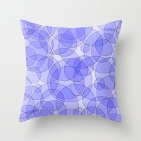 bubbles Throw Pillows featuring Bubbles by Warwick Wonder Works
