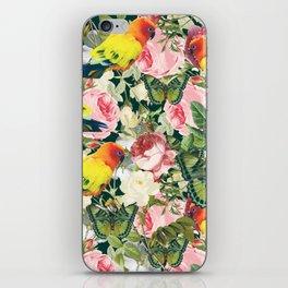 Parrots in rose garden iPhone Skin