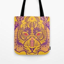 Zentangle Tiger  Tote Bag