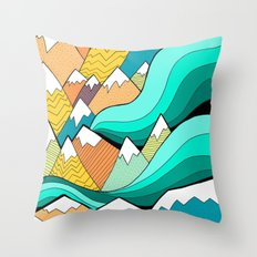 Waves of the mountains Throw Pillow