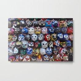 Lucha Libre : Luchadores Luchador : Pro Wrestling : Masks Máscaras Metal Print